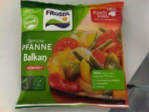 Mißglückte Verpackung der neuen Gemüse Pfanne Balkan