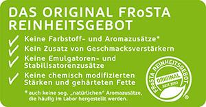 Banner: FRoSTA Reinheitsgebot