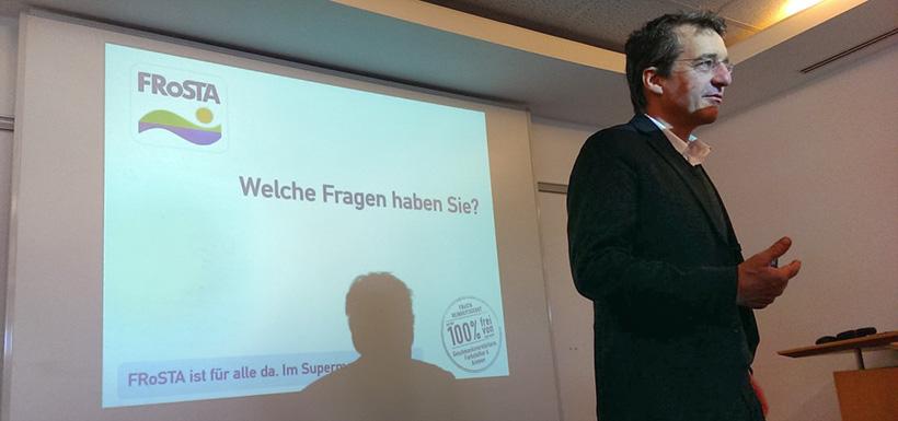 FRoSTA Vorstand Felix Ahlers präsentiert die Ergebnisse 2015 und aktuelle Themen.