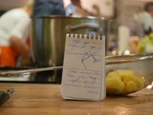 Einkaufszettel für unseren syrischen Abend.