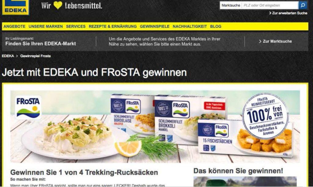 Aktuell: FRoSTA Gewinnspiel auf Edeka.de