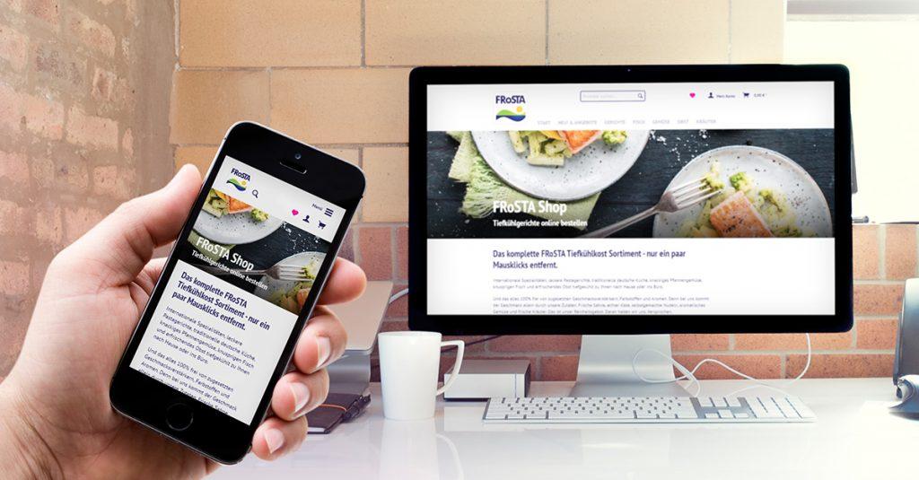 Jetzt auch mit dem Smartphone nutzbar : Unser neuer FRoSTA Shop